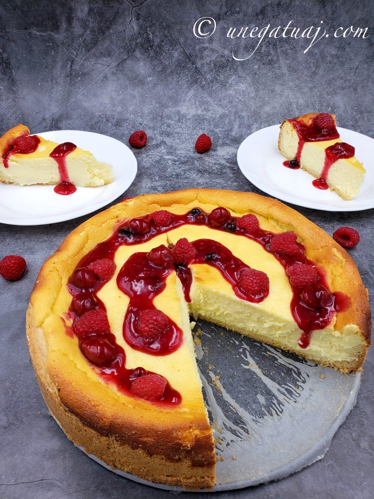 Käsekuchen (tortë gjermane me djathë)