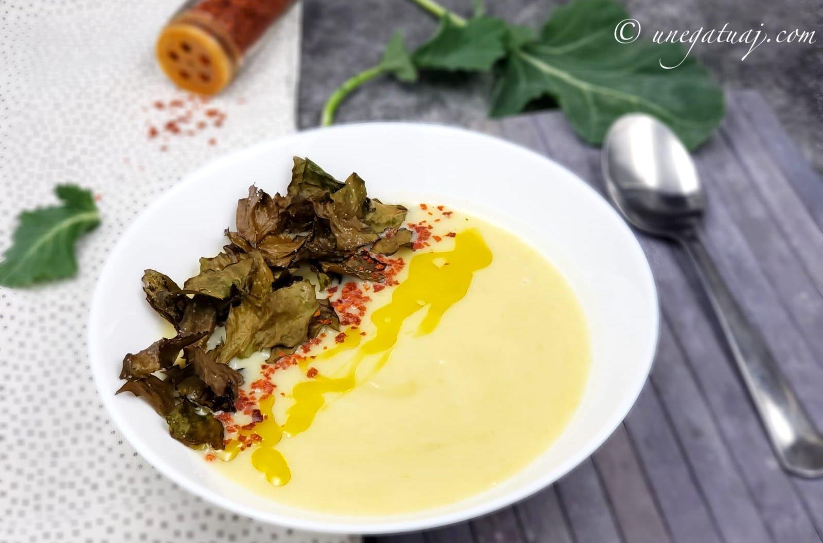 Supë krem me rrepë lakër (Kohlrabi)